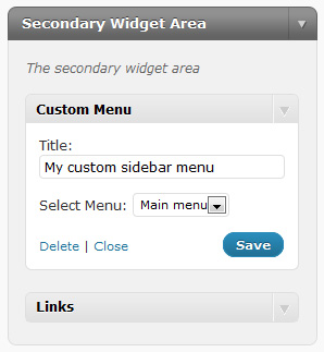 Custom Menu Widget