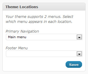 New WordPress 3 menu