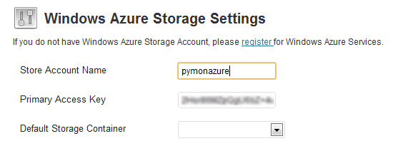 WordPress Azure storage plugin setup